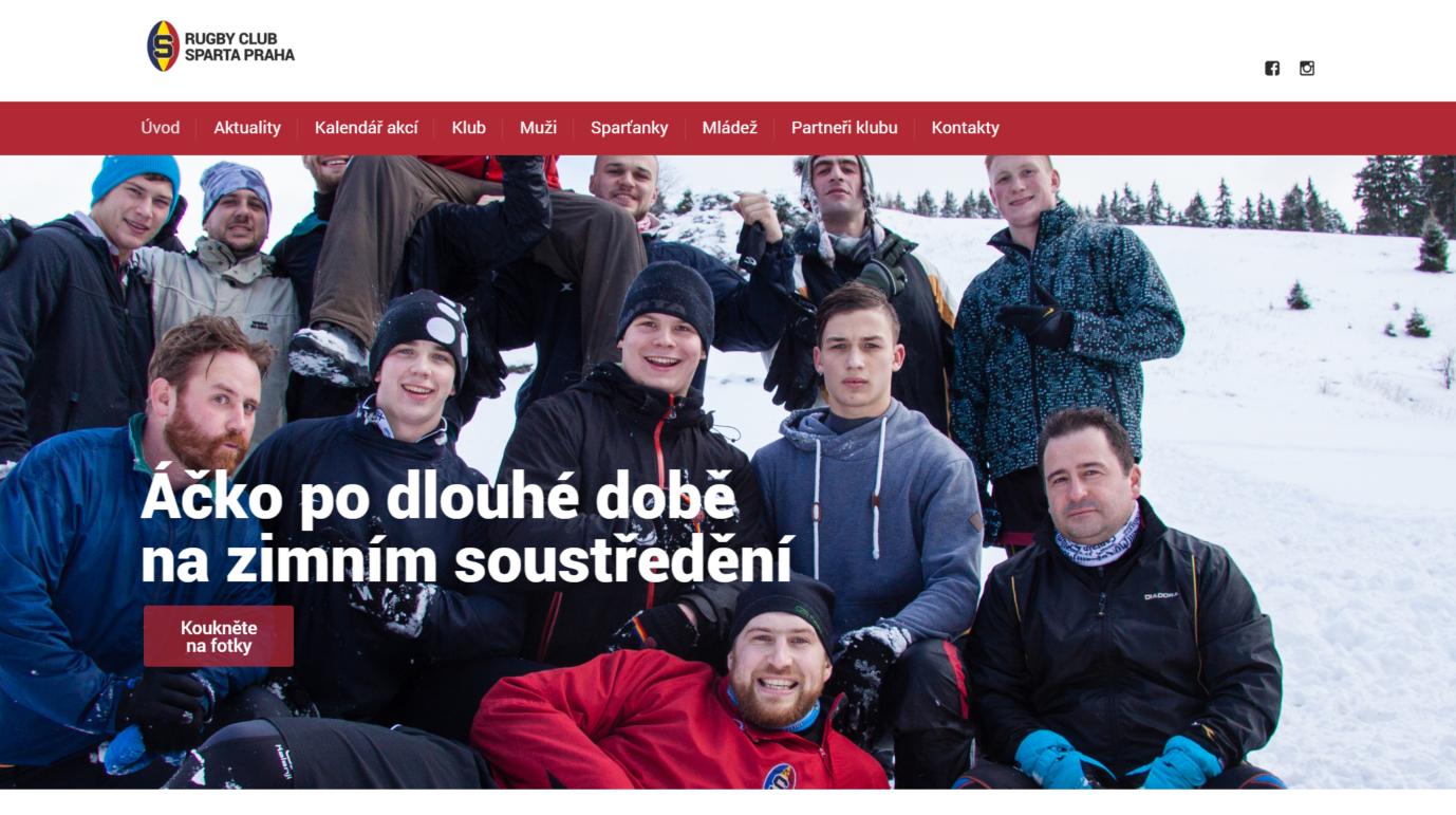 RC Sparta má nový web (aktualizováno 20. 4.)