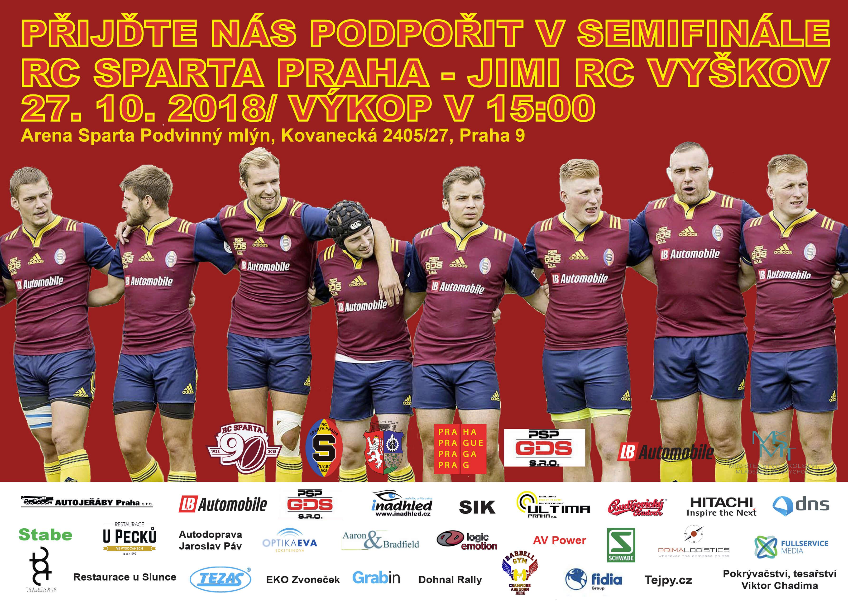 Semifinále RC Sparta Praha – JIMI RC Vyškov