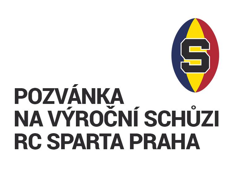 Pozvánka na valnou hromadu RC Sparta